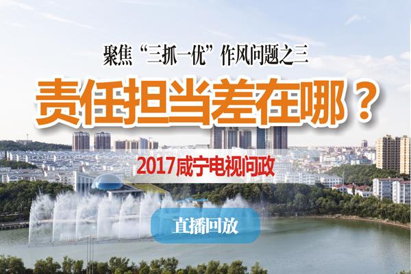 直播回放丨2017咸宁电视问政第三期